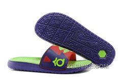 bef423768108 Nike Solarsoft KD Slide Mens Sandals Purple Green Shoes Cheap Nike Running  Shoes