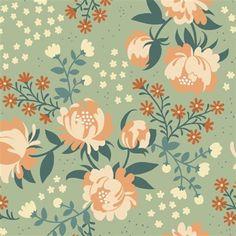 Jersey-BIRCH-KNITS-Flowers-Mint-Gots-Organic-Cotton-Fabric-50x110