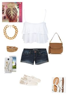 """A summer day"" by sonita123 ❤ liked on Polyvore featuring Miss Selfridge, Aéropostale, American Eagle Outfitters, Michael Kors, Forever 21, Samsung and TOMS"