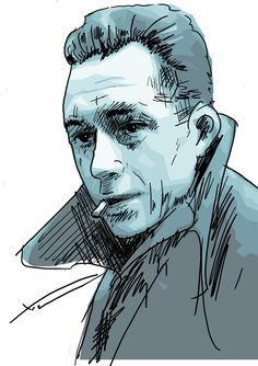 Albert Camus | Caricatures by David Levine | Pinterest | Albert ...