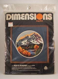 Dimensions Majestic Mountains Longstitch Needlepoint Kit 1982 Sealed Michel Vtg in Crafts, Needlecrafts & Yarn, Needlepoint & Plastic Canvas | eBay