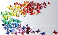 Butterfly art project made by Maureen Shaughnessy and her young cohorts, as a…