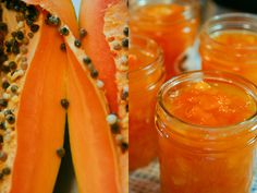 Have you gotten bored with plain old strawberry jam? Why not try 'Papaya Jam'. Jelly Recipes, Mango Jam, Canning Granny, Home Canning, Canning Tips, Jam And Jelly, Tasty Kitchen, Dips, Gastronomia