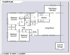 CFA Chinhae - Navy Housing Floorplan (Type 2): 3 bedrooms