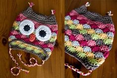 OWL HAT!, no pattern but pictures are clear enough to recreate