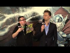 ▶ Marvel Word Association With Thor: The Dark World's Tom Hiddleston - YouTube what a beautiful dork >ω<