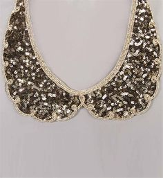 Sequin Collar Necklace! I love it! i need a collared necklace for this fall!!