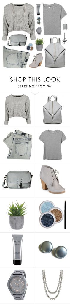 """""""off to school"""" by tinkertot ❤ liked on Polyvore featuring Cheap Monday, Monki, Liebeskind, Journee Collection, Lux-Art Silks, Stila, Nine West, Nanacoco and comments"""