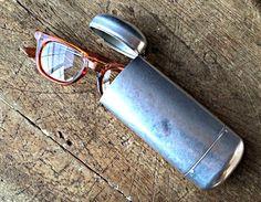 Vintage Aluminum Eyeglasses Case Flip Top Reto by veraviola, $45.00