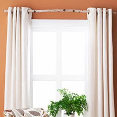 Love love love the natural look of this curtain rod.