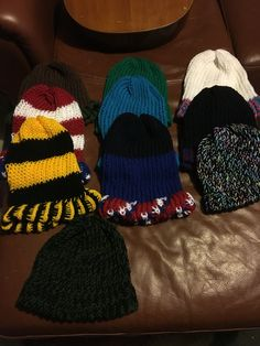 Adult homemade knit hats
