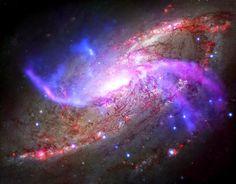 M106 Across the Spectrum   X-ray -NASA / CXC / Caltech /P.Ogle et al.,   Optical - NASA/STScI,IR - NASA/JPL-Caltech,Radio - NSF/NRAO/VL...