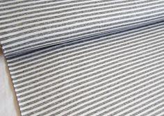 ViskoseJERSEY - Streifen 7 mm - Grau meliert/ Weiß