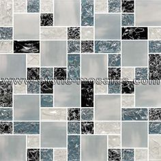 Ice crackle  Glossy Glass Mosaic Tile 011