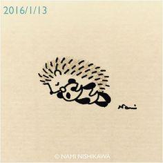 730 #illustration #hedgehog #イラスト #ハリネズミ #illustagram