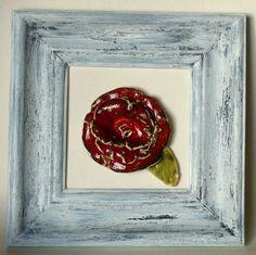 Dekor,+obrazek,+ceramika,+róża+w+doradoradora+na+DaWanda.com