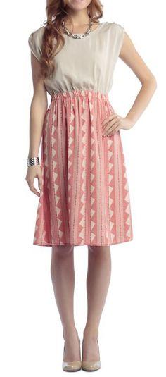 Dress with Aztec Print