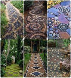 25 Incredible DIY Garden Pathway Ideas You Can Build Yourself To Beautify Your Backyard Diy Garden, Dream Garden, Garden Paths, Garden Art, Garden Mosaics, Garden Stones, Terrace Garden, Glass Garden, Summer Garden