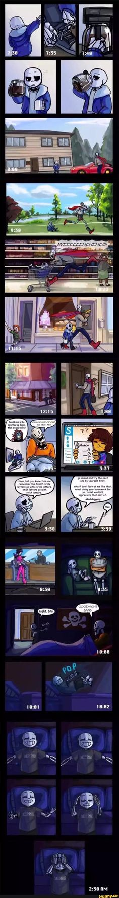 "Sans, Papyrus, Toriel, Frisk, Undertale Check out the link Ashia Wortham put, ""Hey guys this is a comic by wilyart called Insomnia"" here is the link http://wilyart.tumblr.com/tagged/insomnia-comic/chrono         It will explain a lot more, if you were confuse about the ending part of the comic"