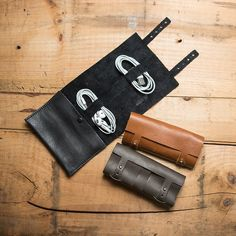 Good looking leather cord wraps for the geek on the go. Perfect for headphone and charging cables.