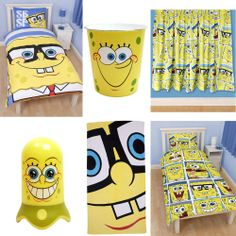 Funny Spongebob Squarepants Kids Room Designs Cute Spongebob Squarepants Themed Kids Bedding Set And Curtain