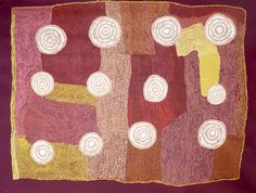 Paddy Lewis - Mina Mina Dreaming - 2009 - 122x91cm  IDAIA - International Development for Australian Indigenous Art