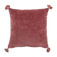 Perfect add-on to your couch! Rose velvet cushion with tassels Design by Bloomingville Buy Pillows, Sofa Pillows, Throw Pillows, Velvet Cushions, Bohemian Apartment Decor, Living Room Inspiration, Home Decor Kitchen, Cushion Covers, Pink