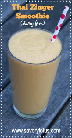 Thai Zinger Smoothie by Savory Lotus. #paleo