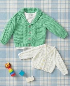 Free Knitting Pattern for Baby Baseball Jacket - Long-sleeved baby sweater  in moss stitch 2821dde5c