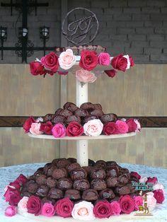 Pastel de boda de Isabel y Joel hecho con Fondant: pastel individual de chocolate