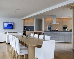 Creative Wood Flooring for Beach House Model: Elegant Kitchen Design Stainless Steel Kitchen Cabinet Wood Flooring For Beach House ~ gnibo.com Hotel