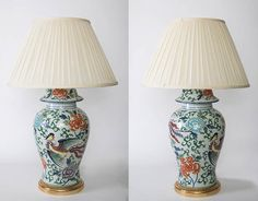 A Pair of French Table Lamps, Porcelaind de Paris French Table, Table Lamps, Antique Furniture, Glass Vase, Antiques, Gallery, Christmas, Home Decor, Antiquities