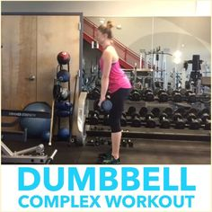 ✨Dumbbell Complex Workout✨ . I ❤️ complex workouts because they're metabolically challenging, build strength, and are fun !  Try this one out with 2 moderately heavy Dumbbells. Complete 4 reps of each exercise before moving directly to the next without stopping or putting the Dumbbells down : . Romanian deadlifts Bent-over rows Dumbbell cleans Push presses Dumbbell front squats .  Complete 4-5 rounds, resting at the bottom of the round as needed. Boom! Full body burn