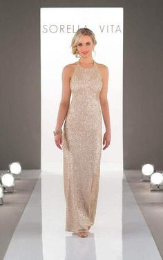 Sorella Vita 8690 Rose Gold bridesmaid dress - Price Blouson bodice, this floaty floor-length gown, perfect mix of relaxed boho style and glamour. Sorella Vita Bridesmaid Dresses, Sequin Bridesmaid Dresses, Gold Bridesmaids, Bridesmaid Dress Styles, Strapless Dress Formal, Wedding Dresses, Bridesmaid Ideas, Bridesmaid Duties, Satin Dresses