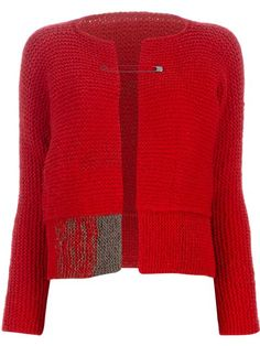 """photo of sold out knitted """"Pin Fastening Cardigan"""" - by Daniela Gregis- seen on Farfetch.com"""