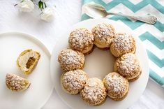 Paris-Brest by Philippe Conticini - Sweet Footprint Blog Patisserie, Good Food, Yummy Food, Choux Pastry, Cake & Co, French Pastries, Eclairs, Food Photo, Bakery