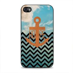 Chevron And Anchor iPhone 4, 4s Case