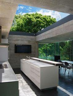 cuisine exterieure minimaliste ultra moderne