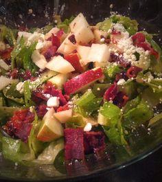Autumn Chopped Apple & Bacon Salad !