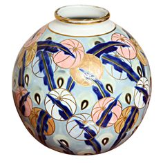 Limoges Art Deco Vase   From a unique collection of antique and modern vases at http://www.1stdibs.com/furniture/more-furniture-collectibles/vases/