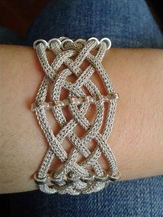 Idea for viking knit bracelet