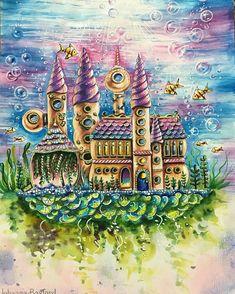 """749 Likes, 11 Comments - Arte Como Terapia (@artecomoterapia) on Instagram: """"Um arraso!!!! @Regrann from @dreams.colors - #lostocean #coloringbook #coloringbookforadults…"""""""