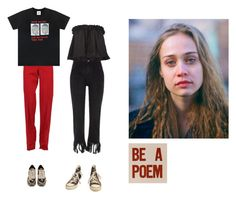 """noname"" by hbd2u ❤ liked on Polyvore featuring E L L E R Y, Converse, Gucci, UNIF and Valentino"