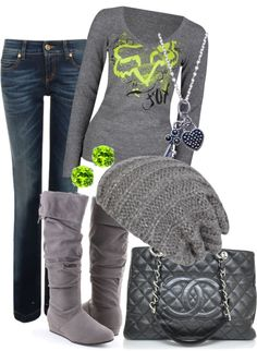 """""""Green Fox"""" by erin-m-heeney ❤ liked on Polyvore"""