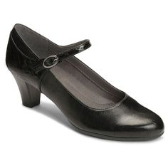 1940s Style Shoes Womens A2 by Aerosoles For Shore Mary Jane Shoes - Black 8.5 $49.99 AT vintagedancer.com