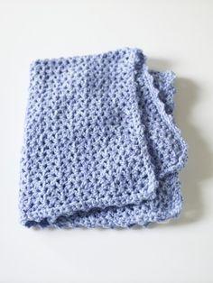 Lion Brand Crochet V-Stitch Blankie.  2 yarn combo.  Size K hook.