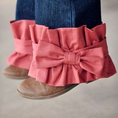 Banded Ruffle and Bow Cuff Jeans - Add a little drama to your little ones jeans - perfect for adding length too!