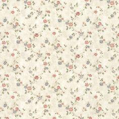 992-44418 Beige Delicate Satin Floral Trail Wallpaper - Alex - Mirage Wallpaper