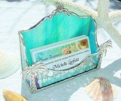 NEW Turquoise Business Card Holder by MoreThanColors on - Google Search