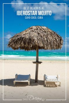 We have all the details on the Iberostar Mojito in Cayo Coco Cuba. With its beautiful beach and compact design, you'll find a great 4-star resort for a great price. | #cuba #allinclusive #beach #overwaterbungalow #vacation |